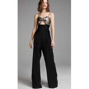 Anthropologie Petersyn Ethan Bow Jumpsuit new